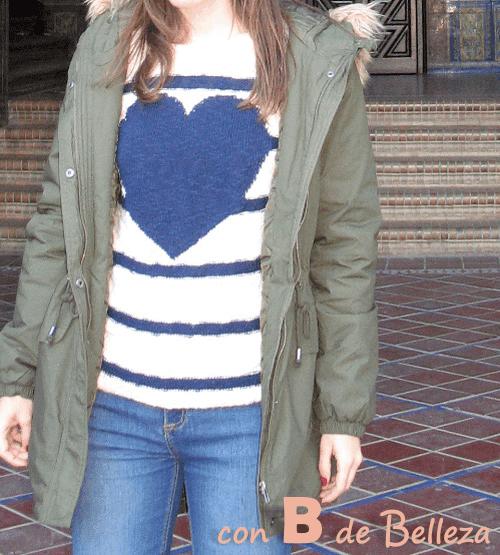 Outfit jersey y vaqueros