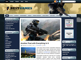 Free BestGame Suitable Game Sites WordPress Theme
