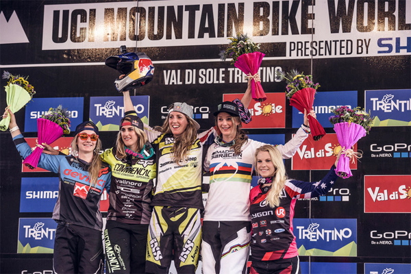 2015 Val Di Sole UCI World Cup Downhill: Results Women's Podium