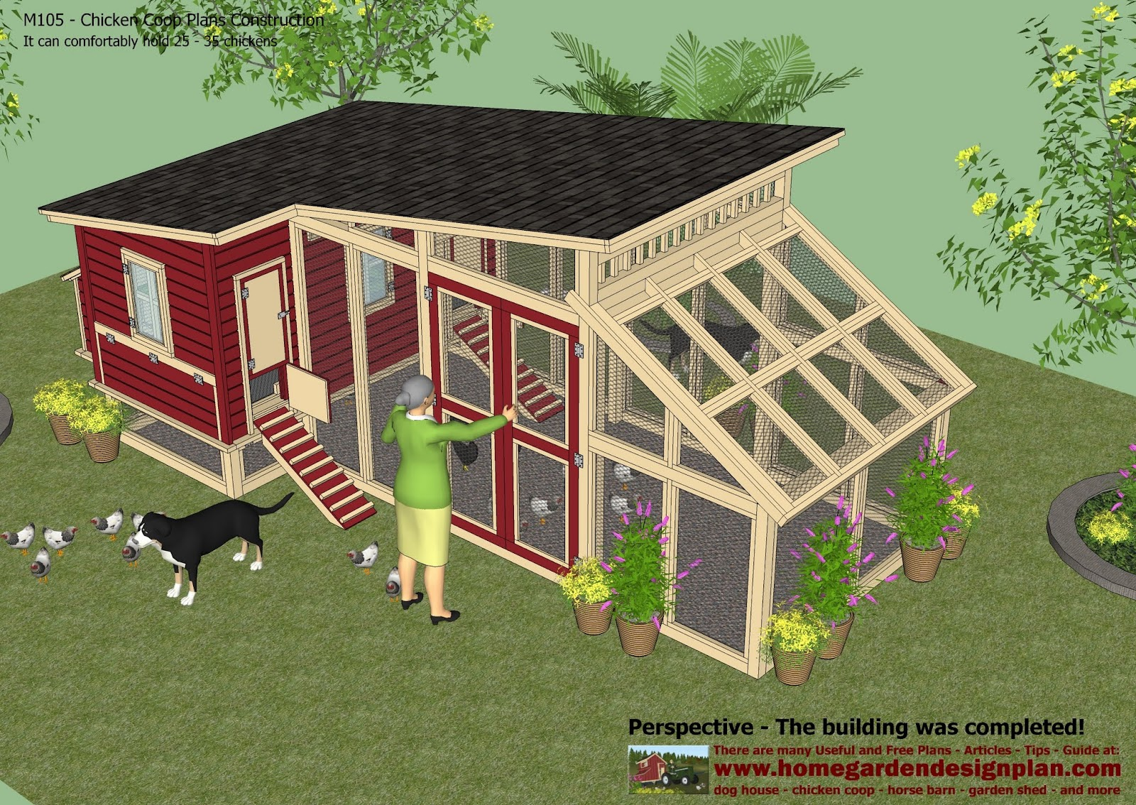 home garden plans m105 chicken coop plans construction