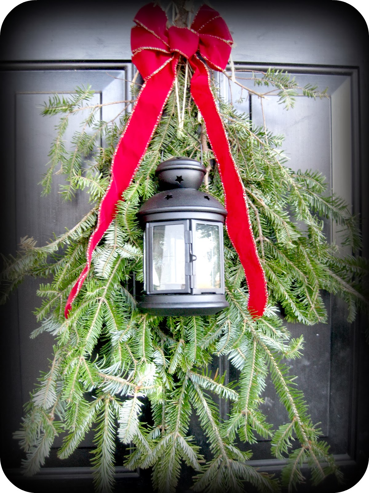 How to decorate your yard for christmas on a budget - Christmas Decor For Porch Light So Simple Why Haven T I Thought Of Doing This Exterior Decor Pinterest Thanksgiving Front Doors And Christmas