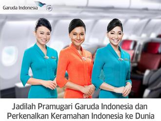 Lowongan Kerja Terbaru Pramugari PT Garuda Indonesia Juni 2014
