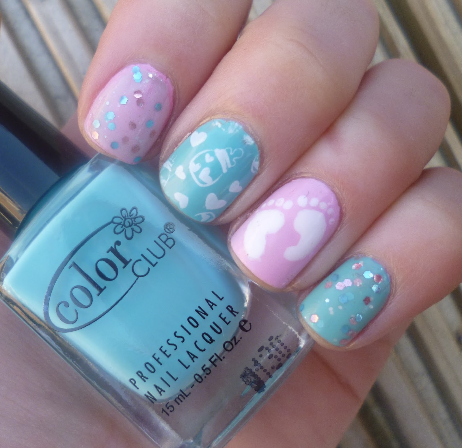 Lou is Perfectly Polished: Baby Shower Nails