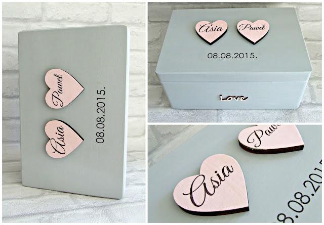 Ślubne Pudełko kuferek na koperty i życzenia by Eco Manufaktura. Wedding Box.
