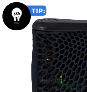 Haze vaporizer's temperature setting lights