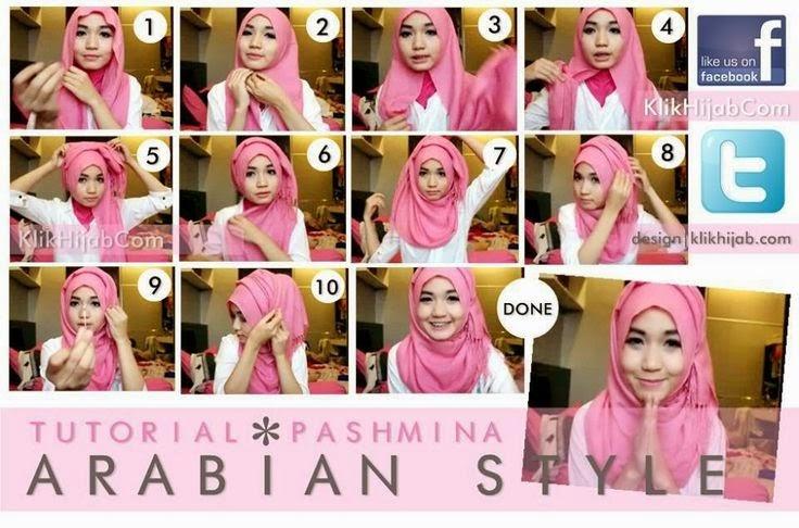 Cara Memakai Jilbab Pashmina Simple Warna Pink Tutorial Hijab Cara