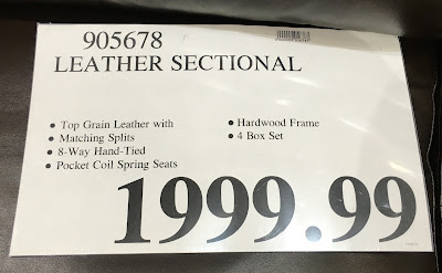 Deal for the Marks and Cohen Colton Leather Sectional Couch at Costco