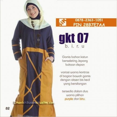 Gamis Sik Clothing GKT 07 Biru