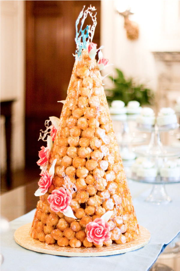 bridal bubbly croquembouche french wedding cake