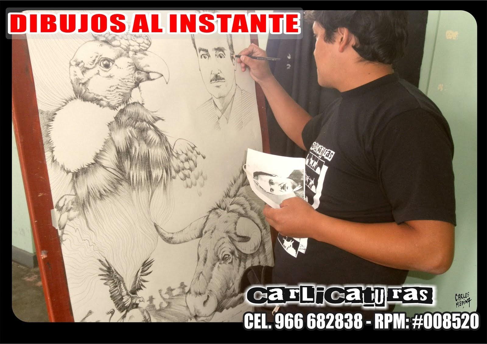 DIBUJOS ARTÍSTICOS AL INSTANTE EN AYACUCHO PERÚ