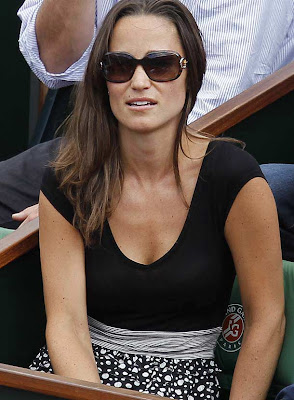 image 1 for pippa middleton at the french open gallery 546936113 Pippa Middleton looks ace in daring top at French Open