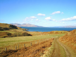 Sheep Herds and fences close to the seal colony on Island of Kerrera