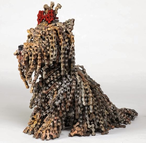 5 fabulous sculptures made from waste bicycle parts for Things made out of waste