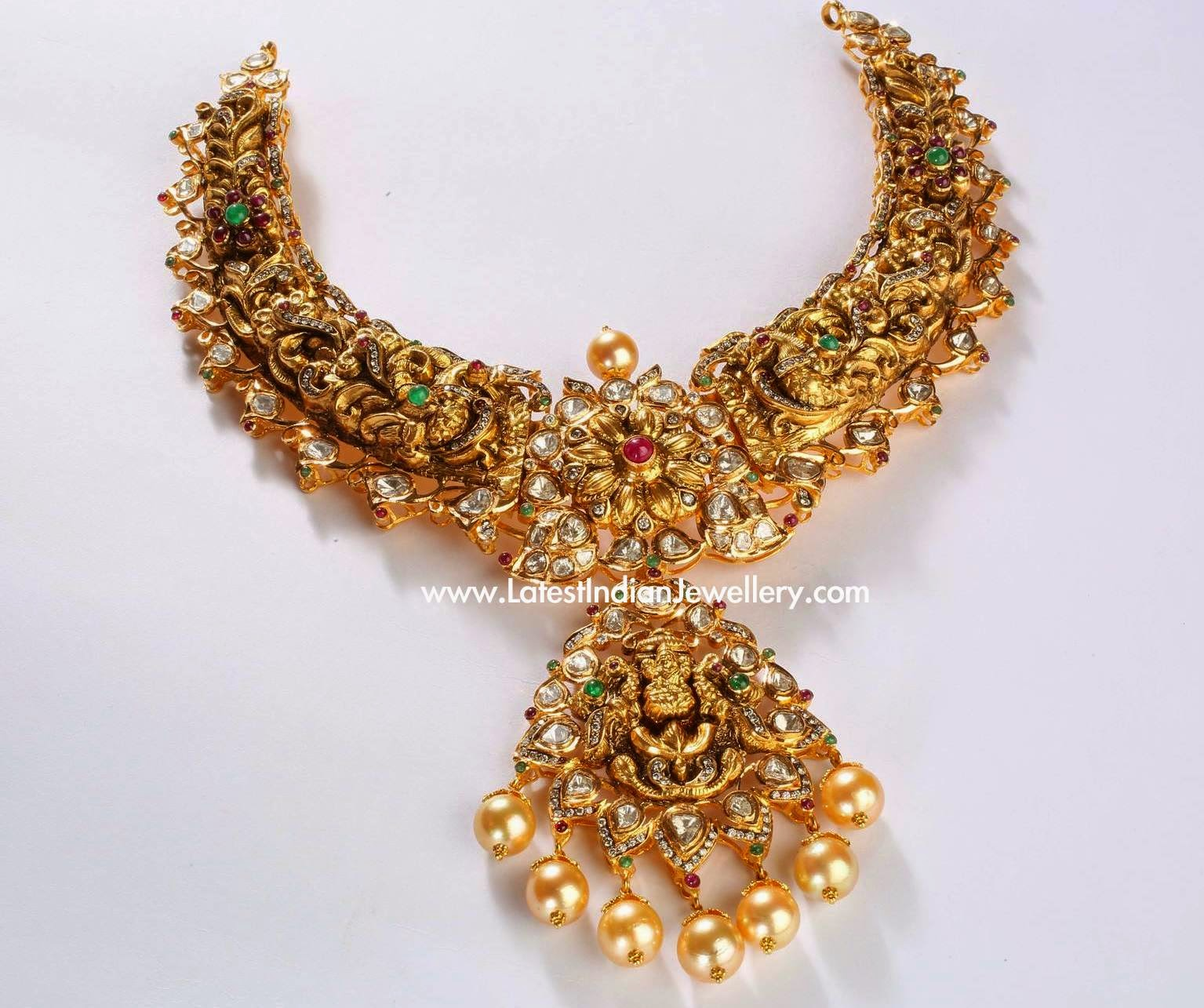 Nakshi Gold Indian Necklace