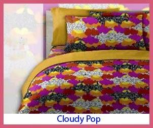 motif sprei cloudy pop sprei bed cover shop. Black Bedroom Furniture Sets. Home Design Ideas