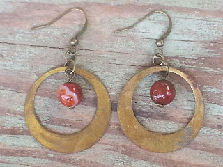 upcycled assemblage earrings
