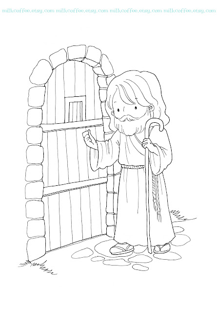 Jesus Knocking On Door Coloring Pages