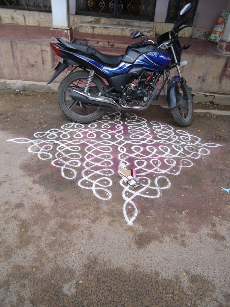 Two wheeler parking, Kollam, Rangoli