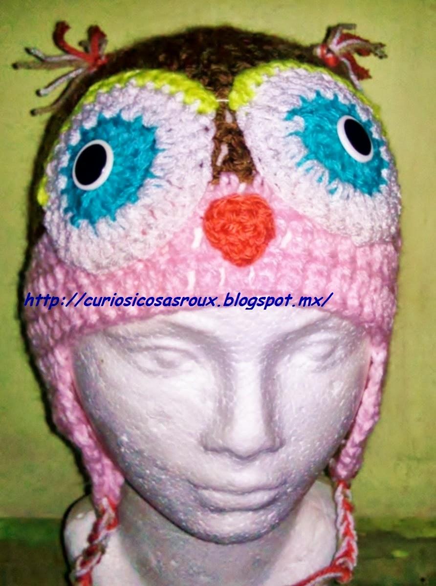 curiosicosas: gorro de buho tejido en crochet
