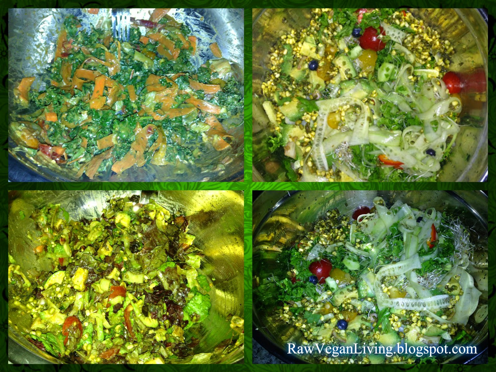 raw vegan green monster salad