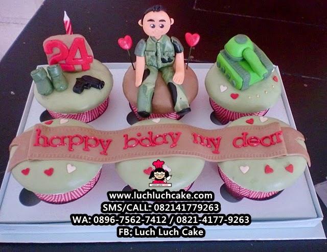 Cupcake Tema Tentara Daerah Surabaya - Sidoarjo