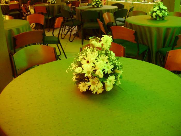 arranjo bola de mesa c tulipa de vidro vela m