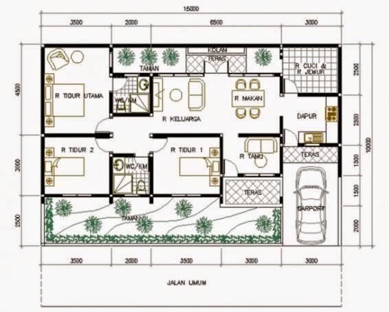 gambar rumah minimalis 1 lantai dan denahnya design
