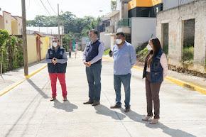 ENRIQUE FERNÁNDEZ PONE EN SERVICIO OBRA POR UN MILLÓN Y MEDIO DE PESOS EN LA CABECERA MUNICIPAL