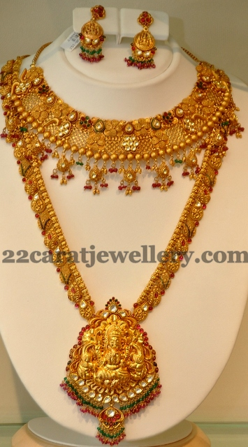 South Indian Antique Sets in 22k Gold Jewellery Designs