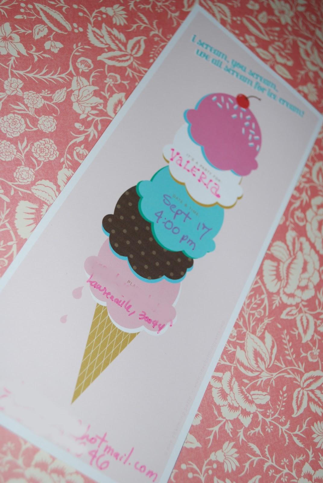 Girls Ice Cream Parlour Party