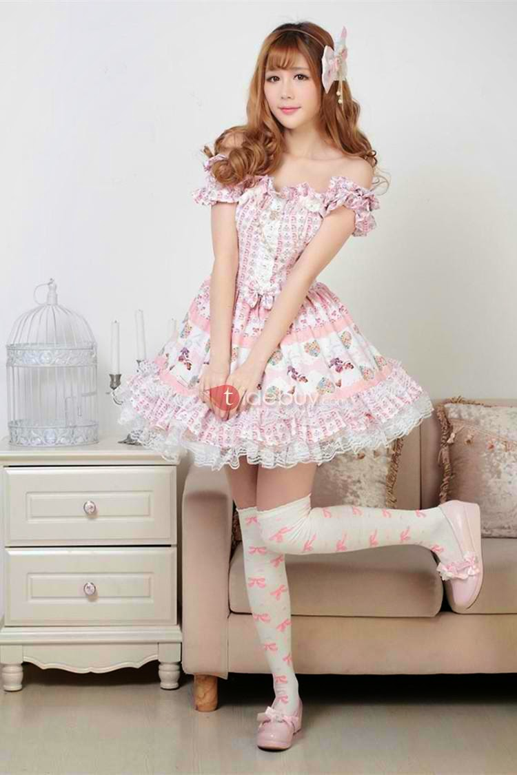http://www.tidebuy.com/product/Pink-Polyester-Strapless-Short-Sleeve-Sweet-Lolita-Dress-10961057.html