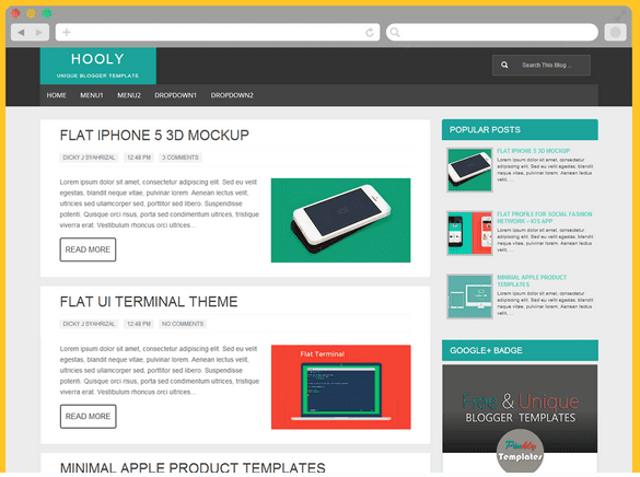 HOOLY BLOGGER TEMPLATES