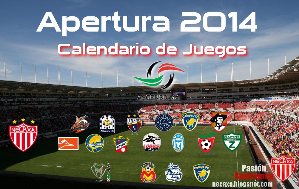 Posted by Gerardo Taker on 12:12 p. m. in Apertura 2014 Calendarios ...