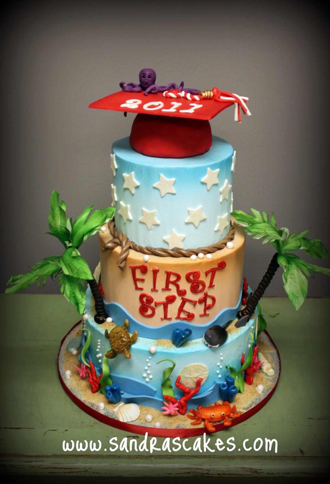 On Birthday Cakes Pre School Graduation Cake