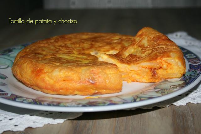 tortilla de patata y chorizo,QuéBox