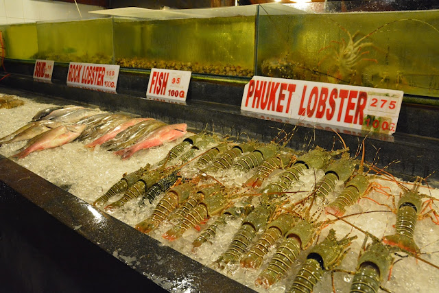 Patong Beach by night lobster