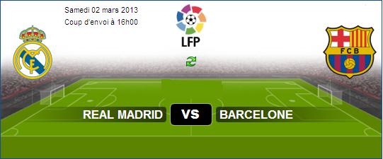 Regarder Match En Direct sur Aljazeera Sport Real Madrid vs FC Barcelone Le 02-03-2013