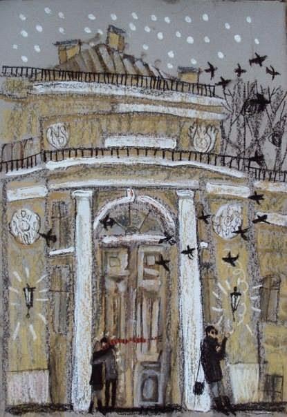 Петербург на картинах Алисы Юфа графика