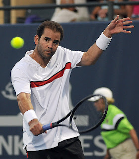 Pete Sampras is hairy, great at tennis, and better than Andre Agassi, Michael Chang. He won several US Opens