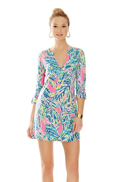 lilly pulitzer new arrival rossmore v neck t shirt dress palm reader
