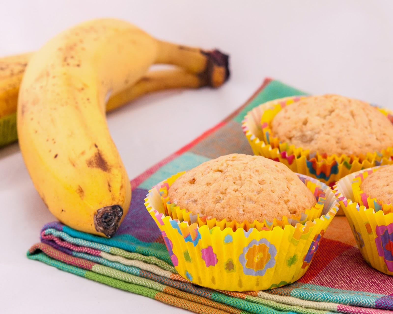 Мъфини с фъстъчено масло и банан