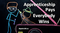 chalkboard animation of master mechanic and apprentice