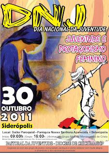 Cartaz Oficial do DNJ 2011 que ocorrerá em Siderópolis - SC