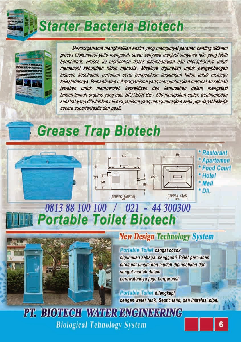 bubuk bakteri pengurai tinja, grease trap, toilet portable fibreglass, flexible toilet, biofil, induro, biofive, biogift