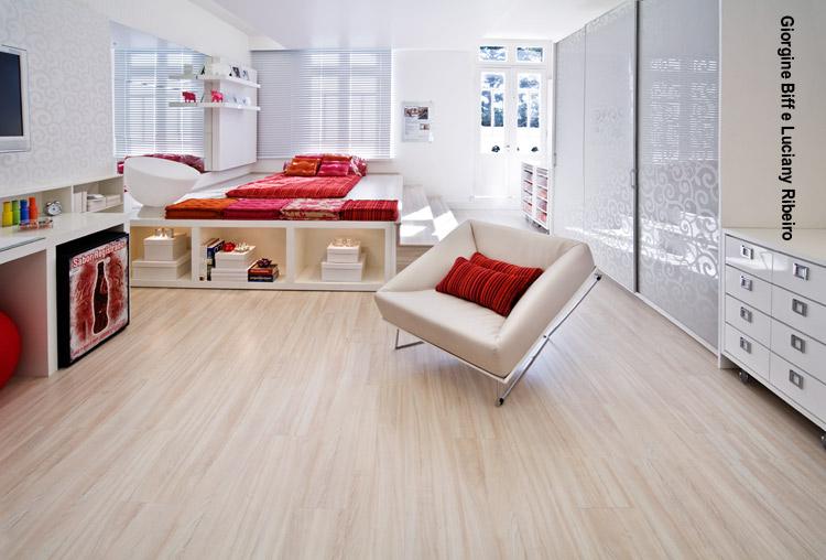 Arquitetura feminina ap porcelanato ou laminado for Pisos para apartamentos pequenos