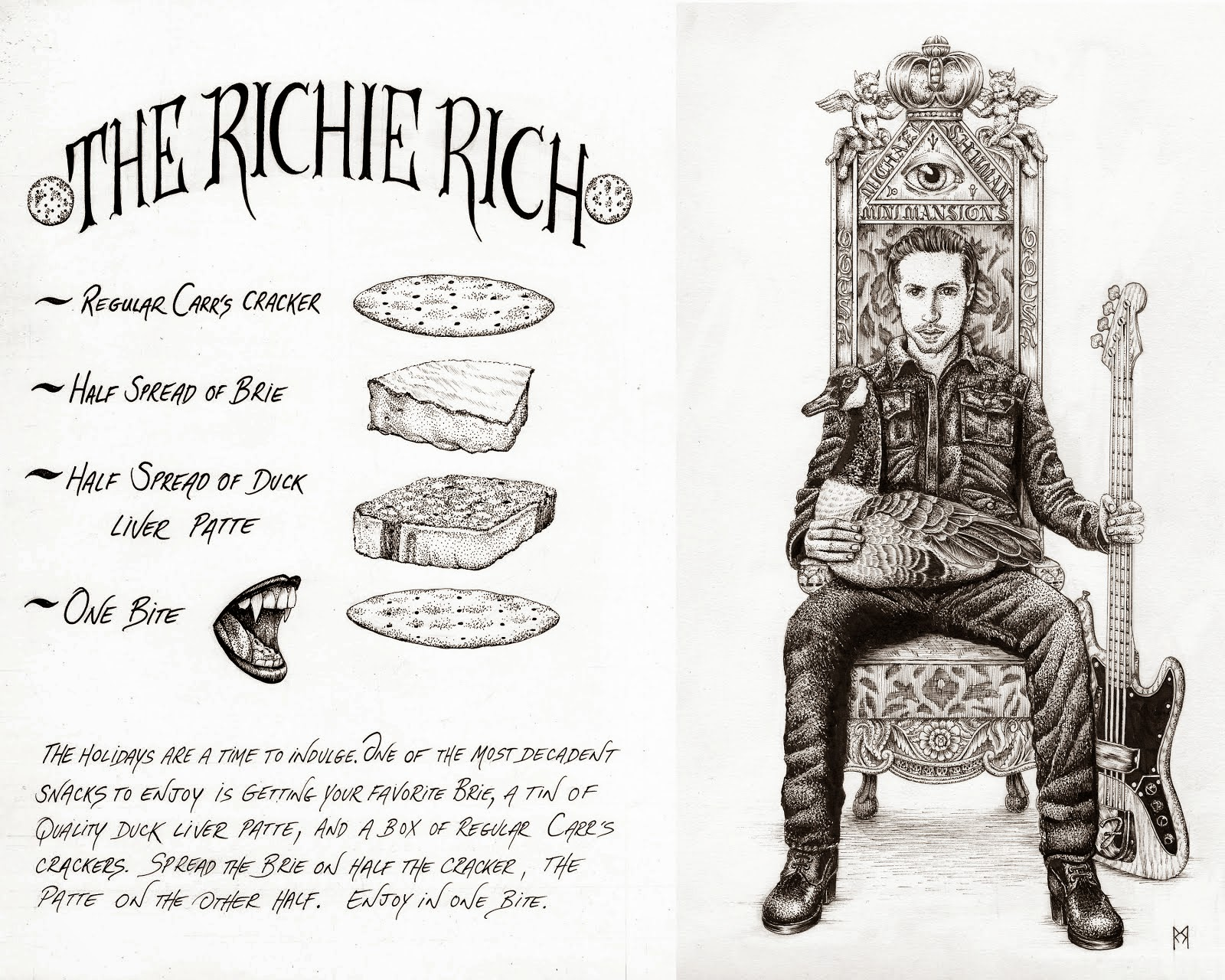 """THE RICHIE RICH"" Recipe by Michael Shuman of Queens Of The Stone Age"