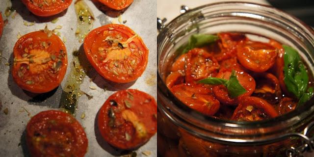 Halvtorkade tomater