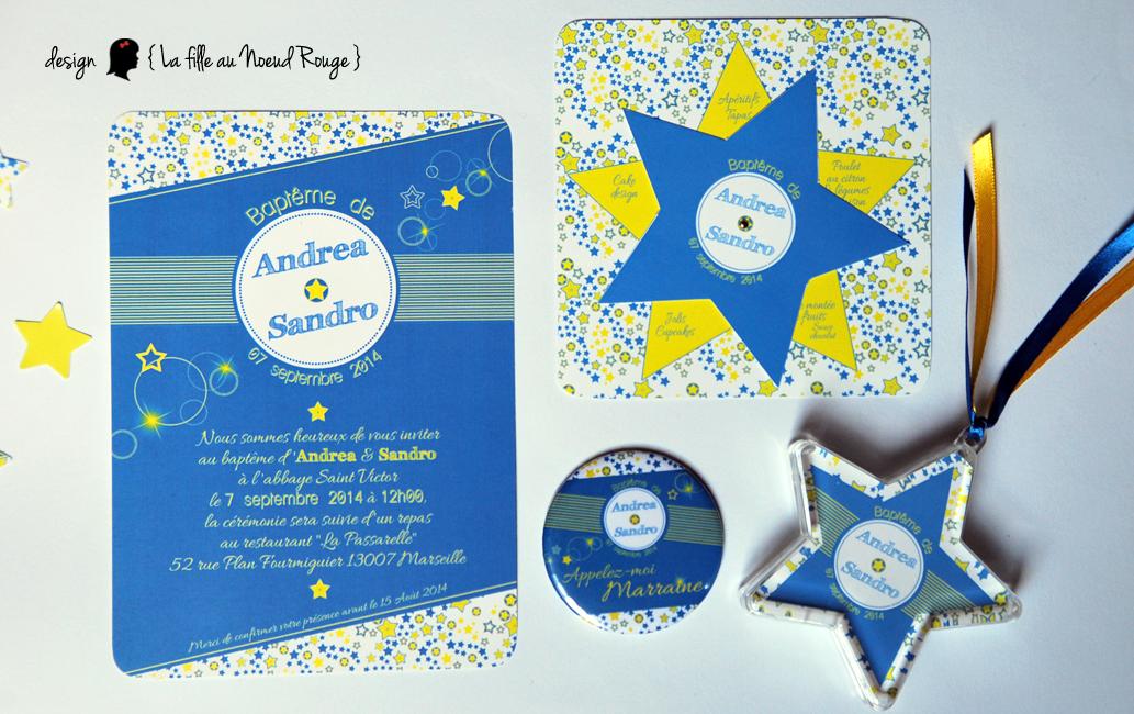 Extrêmement Baptême d'Andrea & Sandro : du faire-part à la décoration ! - La  CW42