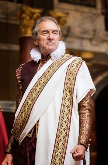 George Irving as Julius Caesar in Shakespeare's Globe production Credit Manuel Harlan