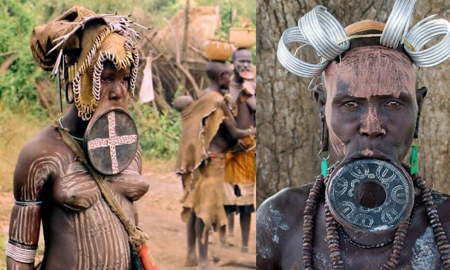 South American Tribal Girls Omo valley tribes